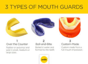 Wear a mouth guard to protect your teeth